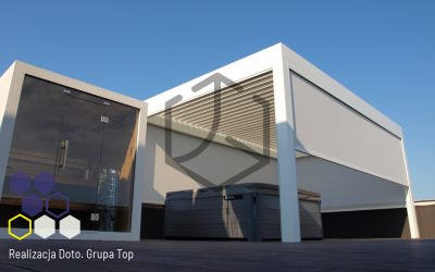 Pergola Tarasowa Top Prima – Nietypowa realizacja firmy DOTO na tarasie znajdującym się na dachu garażu