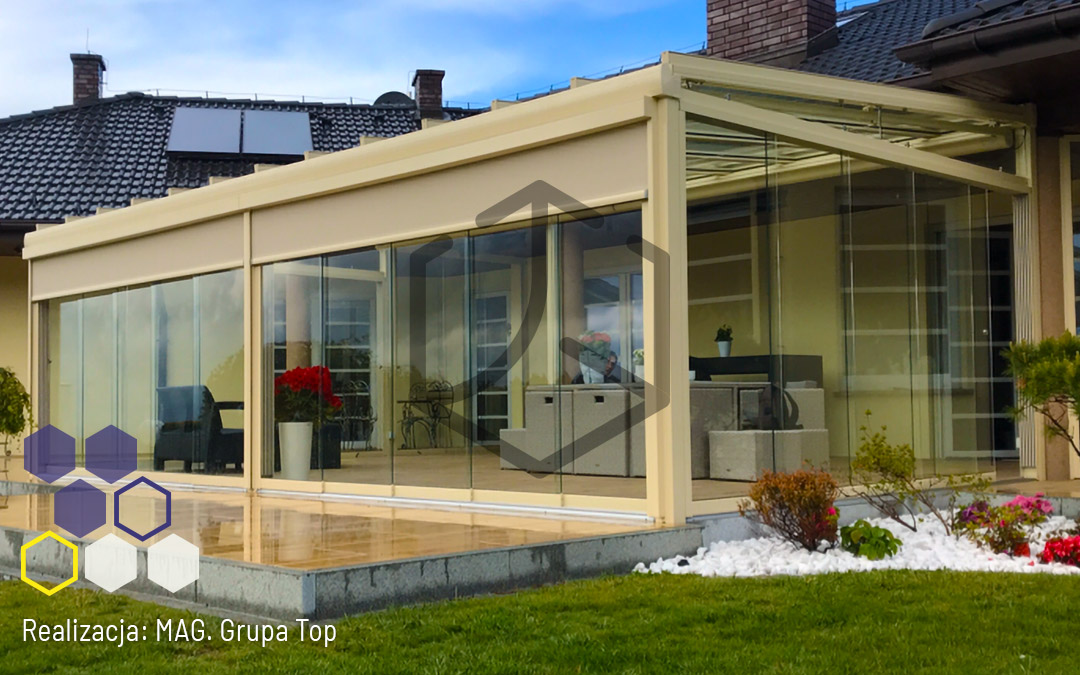 Top Glass i przestrzeń, którą ukształtujesz według swoich potrzeb. Realizacja Mag Pergole