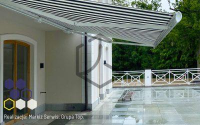 Markilux TOP 6000 w domu z dwoma tarasami  – realizacja firmy Markiz Serwis